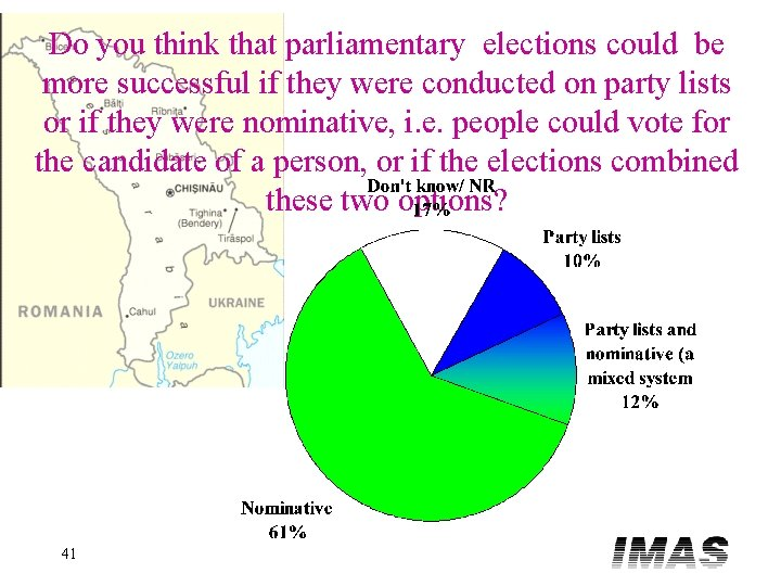 Do you think that parliamentary elections could be more successful if they were conducted
