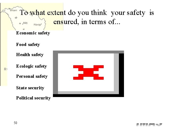 To what extent do you think your safety is ensured, in terms of. .