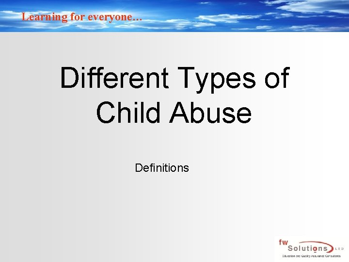 Types what abuse of child different are Preventing Child