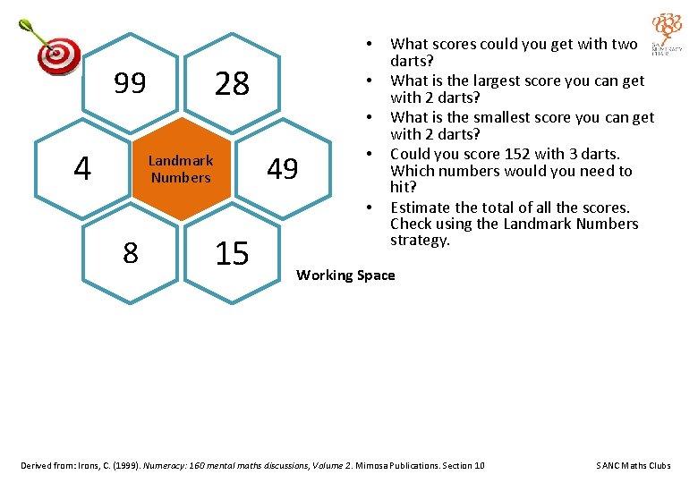• 28 99 • • 4 49 Landmark Numbers • • 8 15