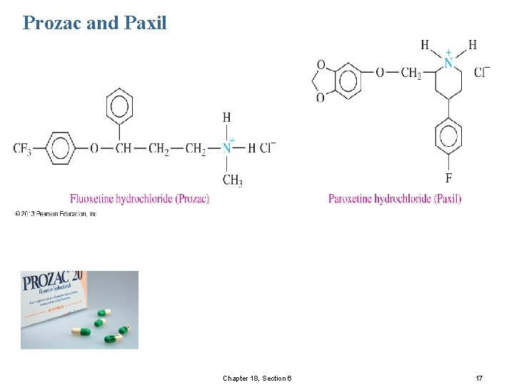 Prozac and Paxil © 2013 Pearson Education, Inc. Chapter 18, Section 6 17