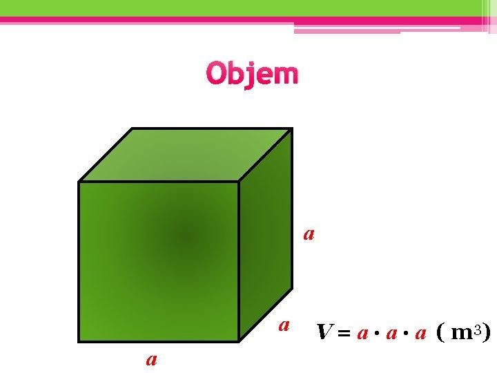 Objem a a a V = a. a. a ( m 3)