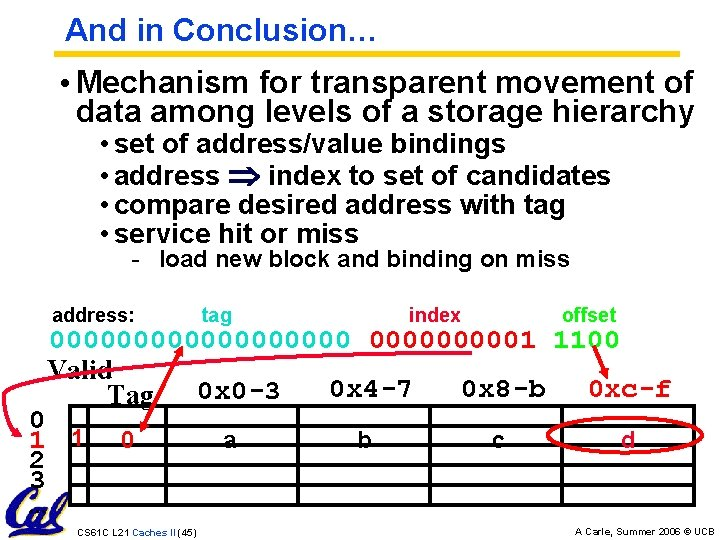 And in Conclusion… • Mechanism for transparent movement of data among levels of a