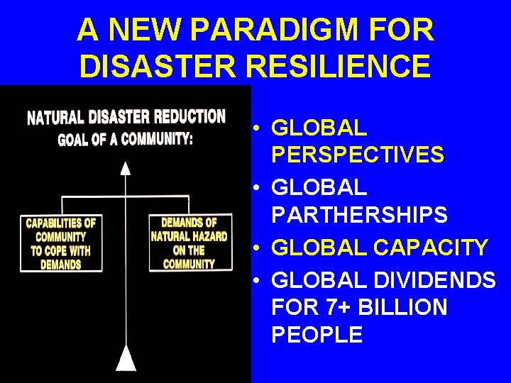 A NEW PARADIGM FOR DISASTER RESILIENCE • GLOBAL PERSPECTIVES • GLOBAL PARTHERSHIPS • GLOBAL