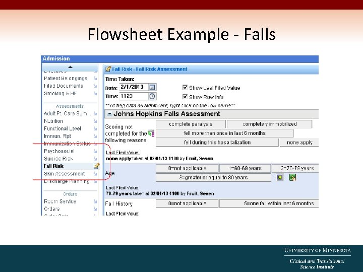 Flowsheet Example - Falls