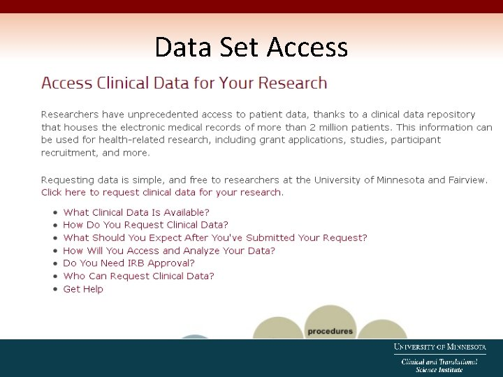 Data Set Access