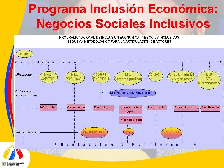 Programa Inclusión Económica: Negocios Sociales Inclusivos