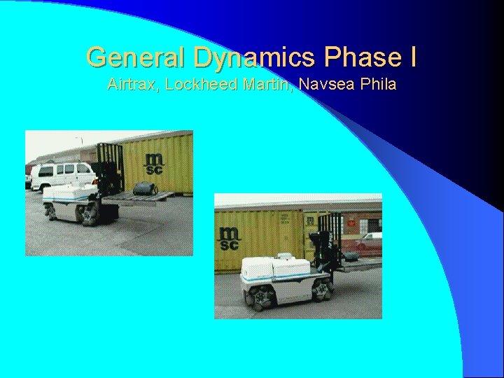 General Dynamics Phase I Airtrax, Lockheed Martin, Navsea Phila