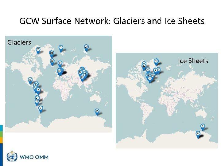 GCW Surface Network: Glaciers and Ice Sheets Glaciers Ice Sheets