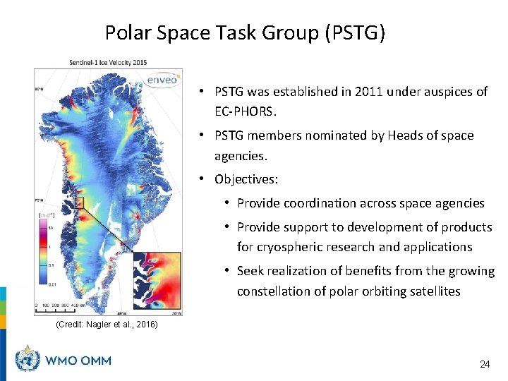 Polar Space Task Group (PSTG) • PSTG was established in 2011 under auspices of