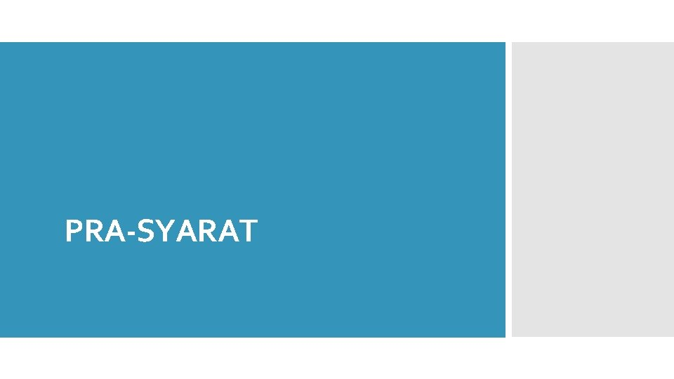 PRA-SYARAT
