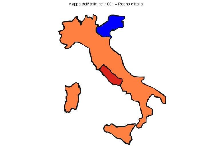 Mappa dell'Italia nel 1861 – Regno d'Italia