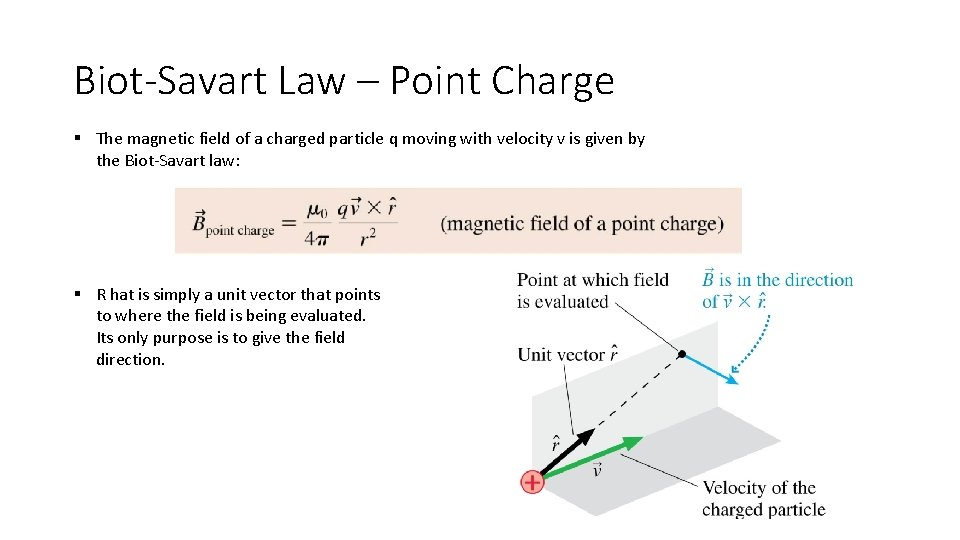 Biot-Savart Law – Point Charge § The magnetic field of a charged particle q
