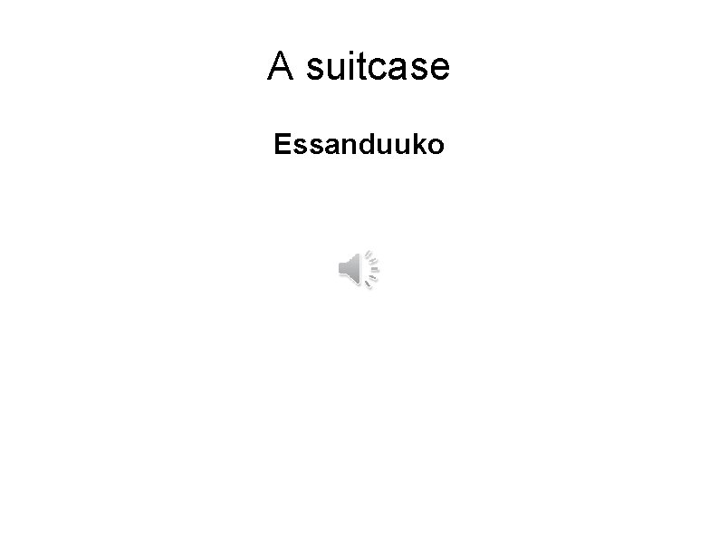 A suitcase Essanduuko