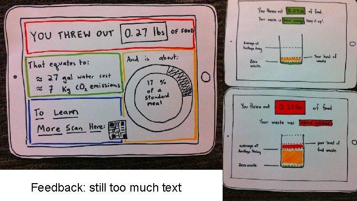 Feedback: still too much text