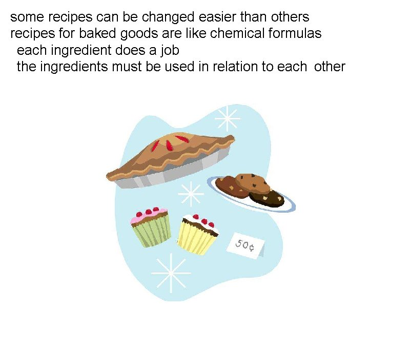 some recipes can be changed easier than others recipes for baked goods are like