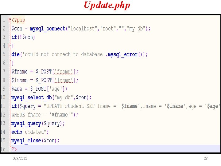 Update. php 3/9/2021 28