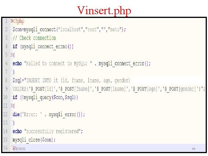Vinsert. php 3/9/2021 44