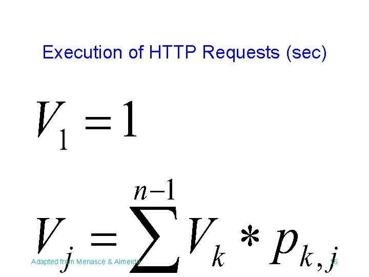 Execution of HTTP Requests (sec) Adapted from Menascé & Almeida. 16