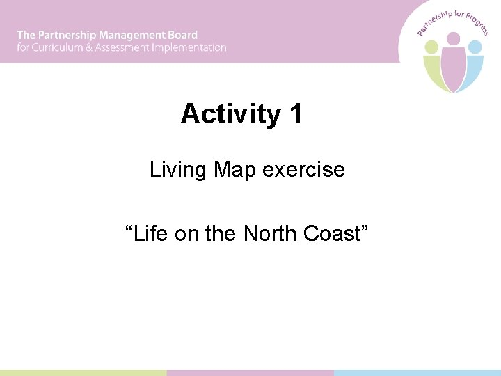 """Activity 1 Living Map exercise """"Life on the North Coast"""""""