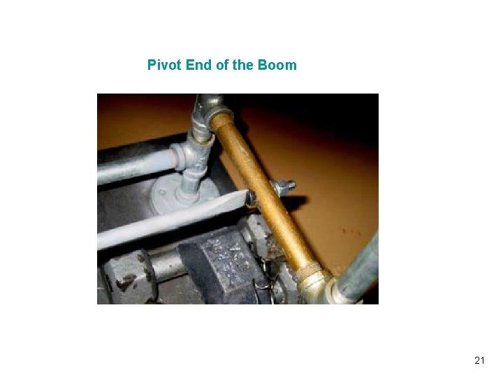 Pivot End of the Boom Vibrationdata 21