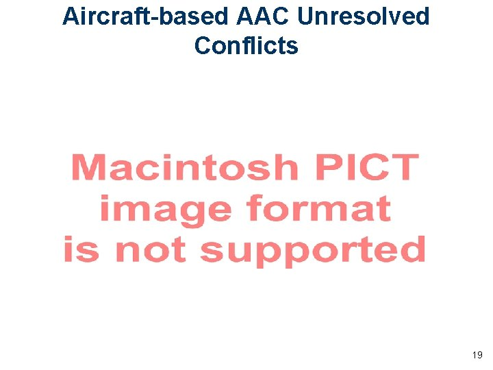 Aircraft-based AAC Unresolved Conflicts 19