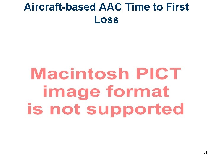Aircraft-based AAC Time to First Loss 20