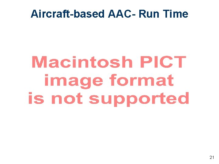 Aircraft-based AAC- Run Time 21