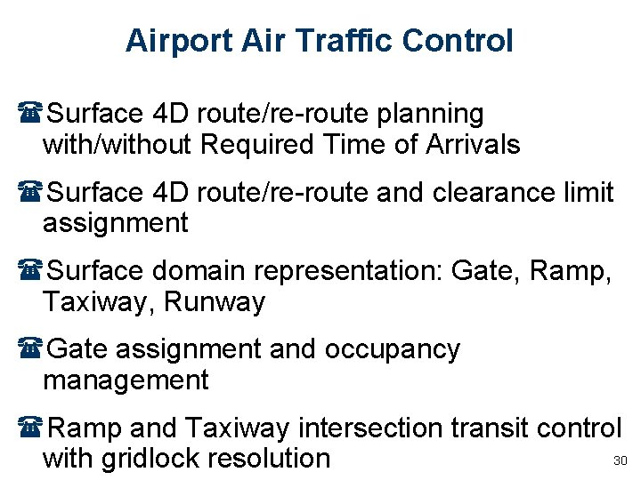 Airport Air Traffic Control (Surface 4 D route/re-route planning with/without Required Time of Arrivals