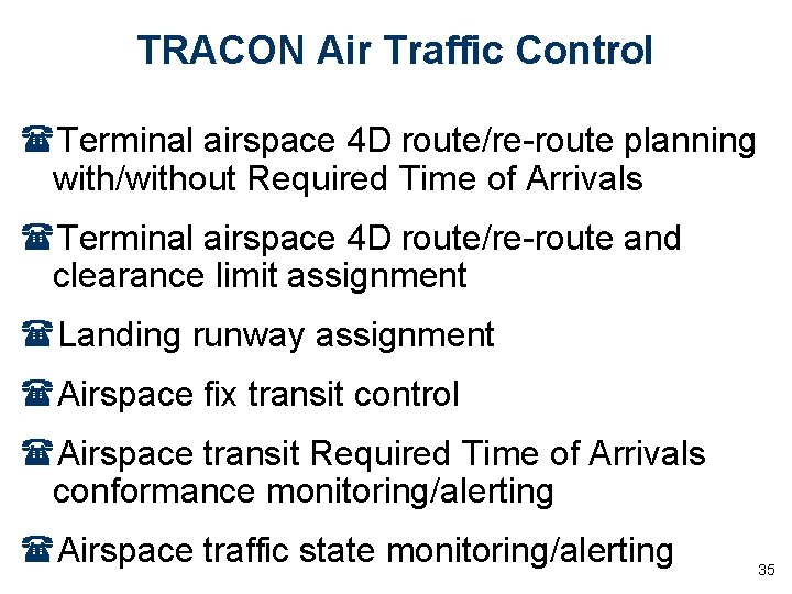 TRACON Air Traffic Control (Terminal airspace 4 D route/re-route planning with/without Required Time of