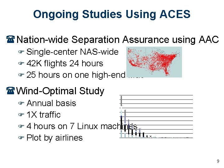 Ongoing Studies Using ACES (Nation-wide Separation Assurance using AAC F Single-center NAS-wide F 42