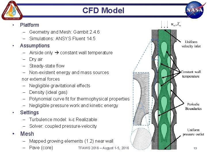CFD Model • Platform – Geometry and Mesh: Gambit 2. 4. 6 – Simulations:
