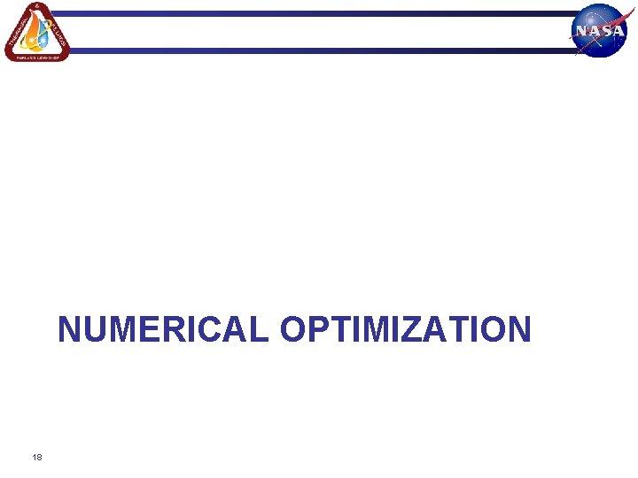 NUMERICAL OPTIMIZATION 18
