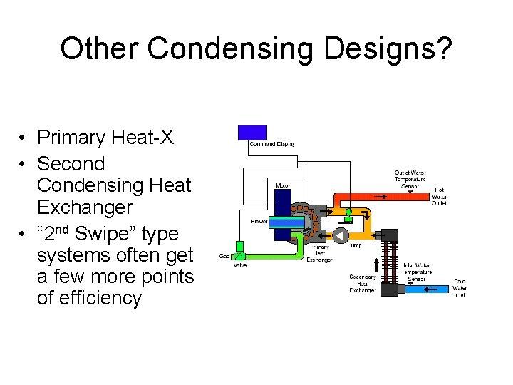 "Other Condensing Designs? • Primary Heat-X • Second Condensing Heat Exchanger • "" 2"