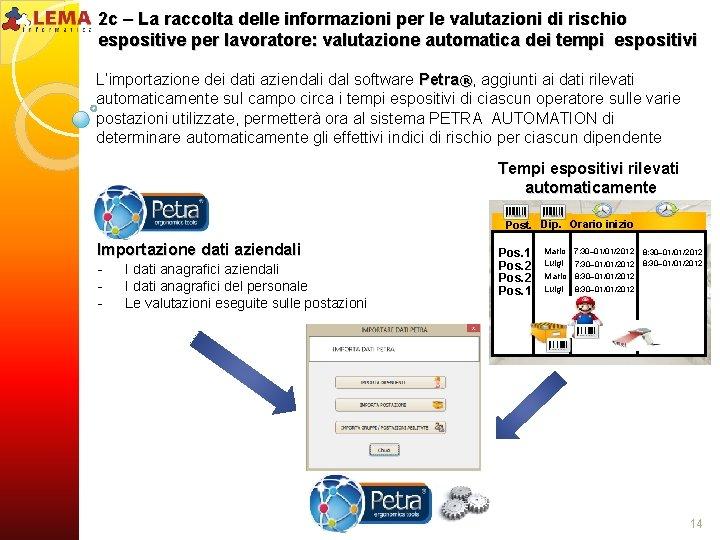 2 c – La raccolta delle informazioni per le valutazioni di rischio espositive per
