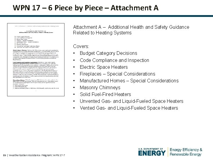 WPN 17 – 6 Piece by Piece – Attachment A – Additional Health and