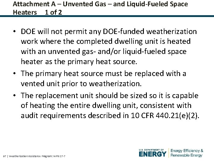 Attachment A – Unvented Gas – and Liquid-Fueled Space Heaters 1 of 2 •