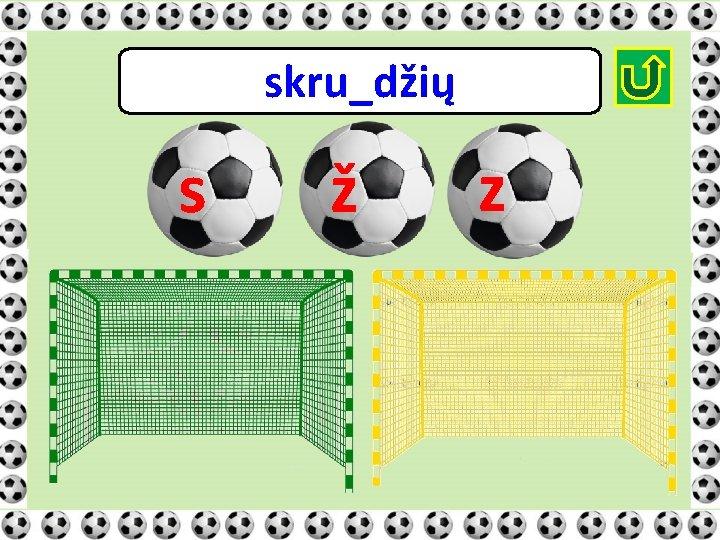 skru_džių s ž z