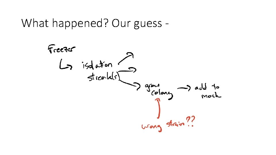 What happened? Our guess -