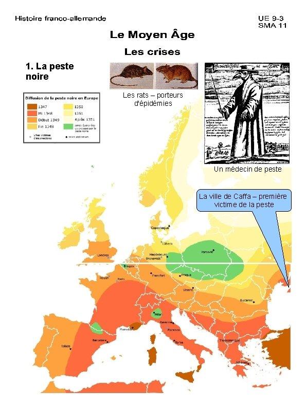 1. La peste noire Les rats – porteurs d'épidémies Un médecin de peste La