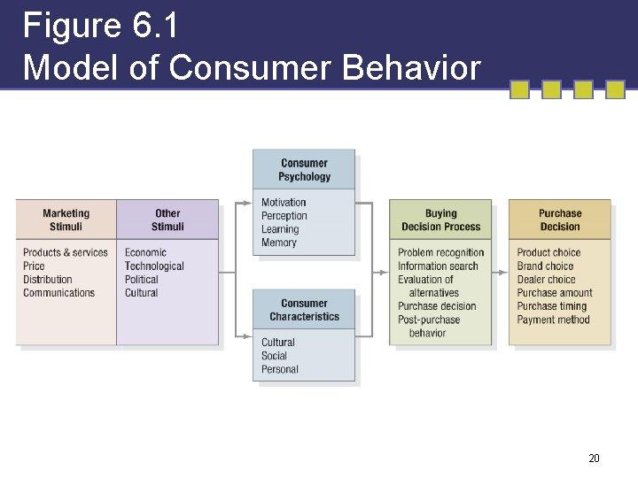 Figure 6. 1 Model of Consumer Behavior 20