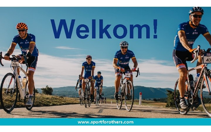 Welkom! www. sportforothers. com