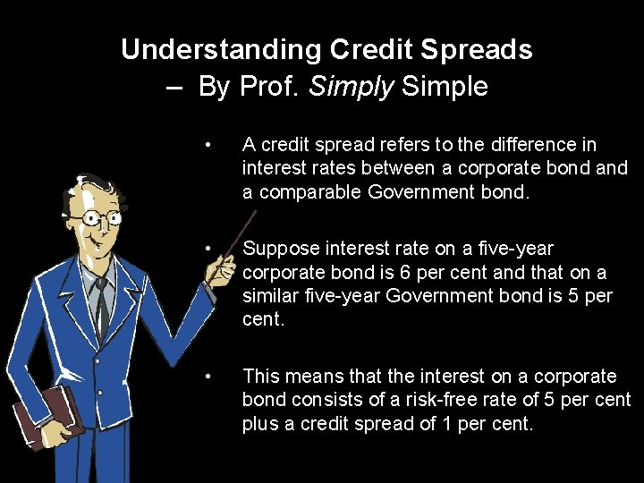 Understanding Credit Spreads – By Prof. Simply Simple • A credit spread refers to