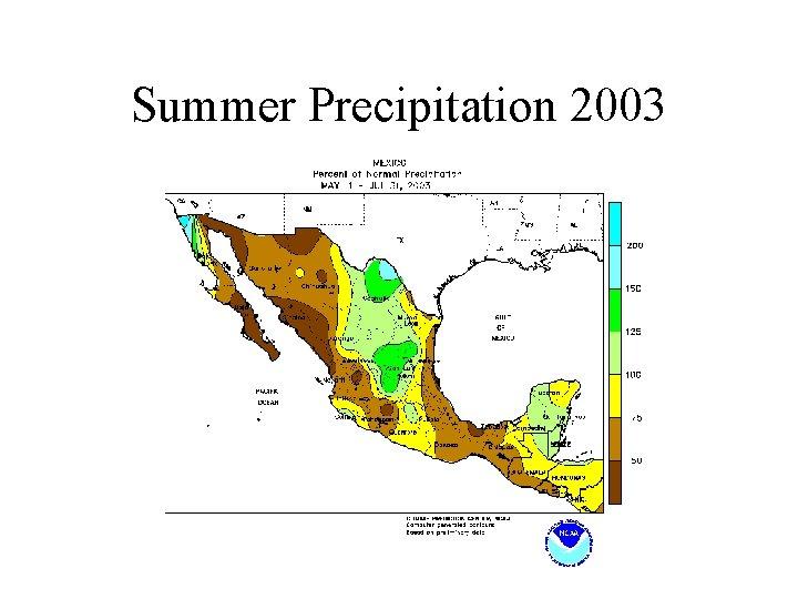 Summer Precipitation 2003