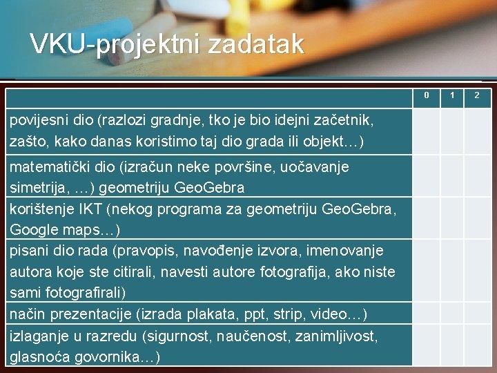 VKU-projektni zadatak 0 1 2 povijesni dio (razlozi gradnje, tko je bio idejni začetnik,