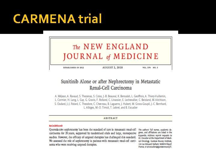 CARMENA trial