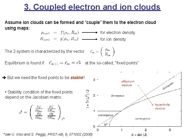 """3. Coupled electron and ion clouds Assume ion clouds can be formed and """"couple"""""""