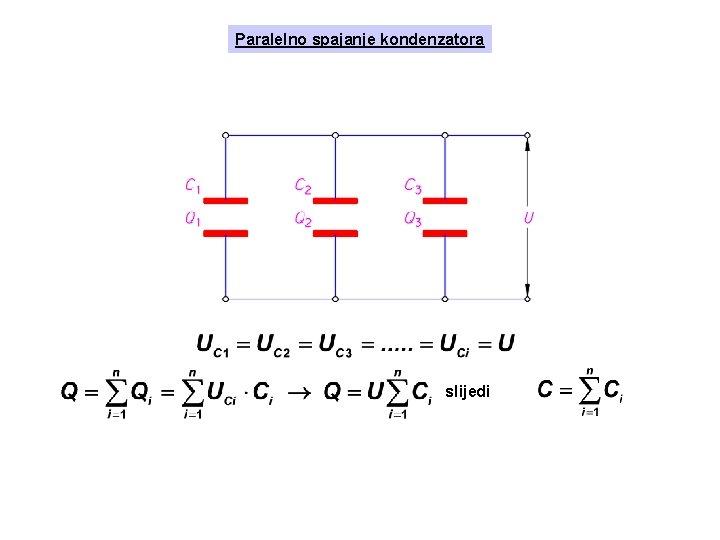 Paralelno spajanje kondenzatora slijedi