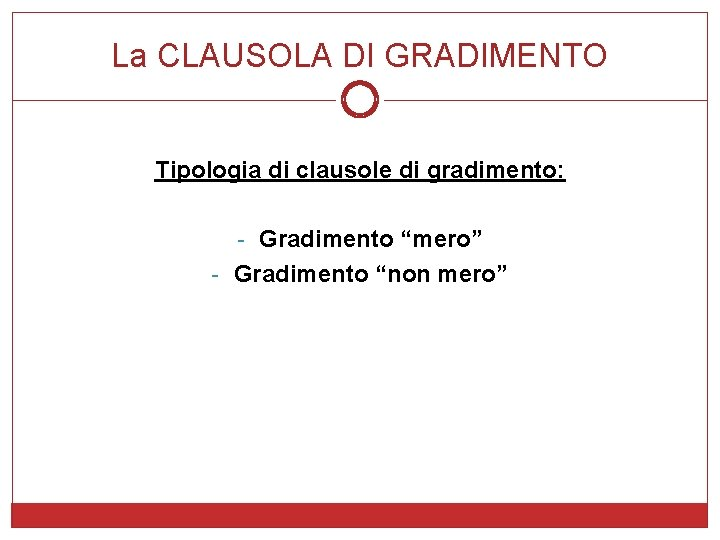 """La CLAUSOLA DI GRADIMENTO Tipologia di clausole di gradimento: - Gradimento """"mero"""" - Gradimento"""