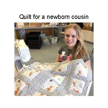 Quilt for a newborn cousin